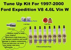 Tune Up Kit For 1997 -2000 Ford Expedition V8 Spark Plug Air  Oil  filter, PCV