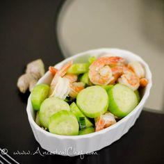 paleo cucumber ginger shrimp recipe