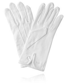 Weiße Handschuhe, Baumwolle | Dobell