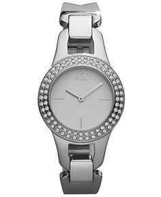 A X Armani Exchange Watch, Women's Stainless Steel Bracelet 30mm AX4092 - Women's Watches - Jewelry & Watches - Macy's