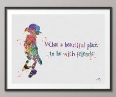 DOBBY Quote from Harry Potter Art Print Watercolor Painting Children's Wall Art Giclee Wall Decor Art Home Decor Wall Hanging [NO 279] by CocoMilla on Etsy https://www.etsy.com/listing/206755832/dobby-quote-from-harry-potter-art-print