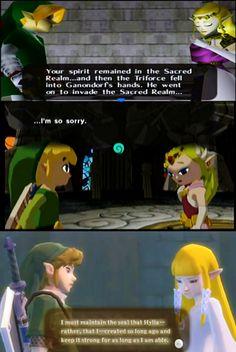 Zelda's sad look