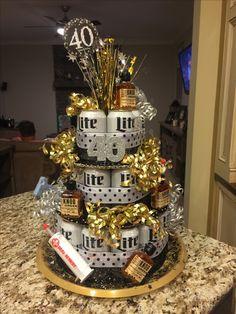 Birthday Cake Ideas For Men Boyfriends Beer Cans 38 Ideas 50th Birthday Party Ideas For Men, Beer Birthday Party, Birthday Decorations For Men, Birthday Gifts For Boyfriend Diy, Birthday Centerpieces, Birthday Cakes For Men, 40th Birthday Parties, Cake Birthday, 40th Birthday Cake For Men