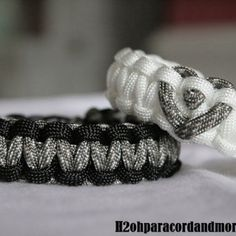 His & Hers Paracord Bracelets  These paracord bracelets are great for everyone, especially military couples. They can be made any way you want them & they can even be taken apart in emergency situations (perhaps wear them if you go camping or hiking). Nice & practical...You can't ask for much more than that! These bracelets can be found on Etsy (www.etsy.com).