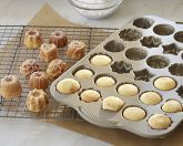 Williams-Sonoma mini cakelet pan.  Perfect size for petti-fours with various shapes.  Quick, Easy & Economical.