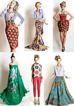 Obviously these are for the runway, but I am in love with the colors, ethnic pattern mixing, so cool!