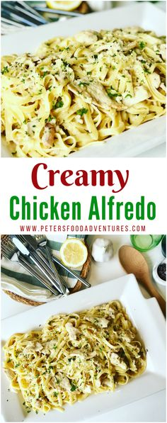 Perfect for a weeknight or weekend dinner, this family dinner favorite is so easy to make! Creamy with caramelized onion and mushrooms, smothered in cream and parmesan. A lower fat alternative, but you'd never know it! Chicken Fettuccini Alfredo Recipe