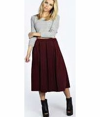 boohoo Box Pleat Midi Length Skater Skirt - berry Nail the new seasons must-have midi length in this structured box pleat skirt . Style this statement separate with a fluffy cropped jumper , peep toe platforms and a PU biker jacket for that punky edg http://www.comparestoreprices.co.uk/skirts/boohoo-box-pleat-midi-length-skater-skirt--berry.asp
