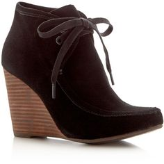 bccb6a80a23 Kelsi Dagger Brooklyn Martha Lace Up Wedge Booties - Compare at  130 (€36)