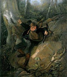 Картинки по запросу немецкий художник девушка в лесу