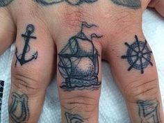 small anchor tattoos on hand for men