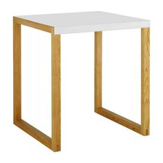 table de salle à manger en métal et chêne massif