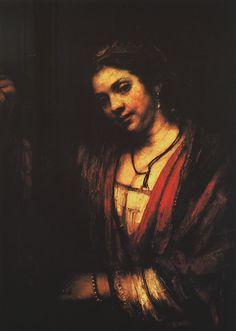 Retrato de Hendrickje Stoffels - Hendrickje at an open door - Rembrandt Harmenszoon van Rijn