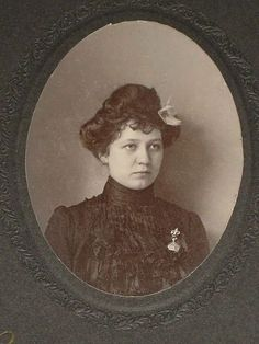 Antique Cabinet Card of Beautifully Dress Young Woman with Fleur de from victoriandreams on Ruby Lane