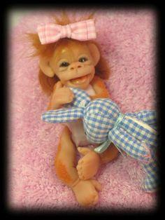 Polymer clay Baby Orangutan