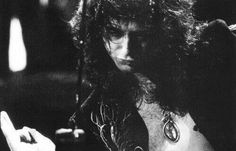 Jimmy Page working the theremin
