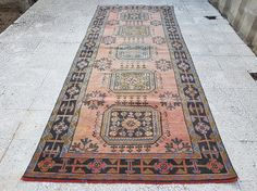 Runner Rug for Hallway Muted Carpets Turkish Rug  Tribal