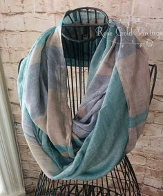 Cape Cod Stripe Infinity Scarf – Rose Gold Vintage