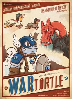 WARtortle - Poster Design by Adriano Alves  (Behance)