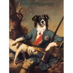 The pet portraits see four-legged friends cleverly incorporated into pictures you might expect to see in a stately home.