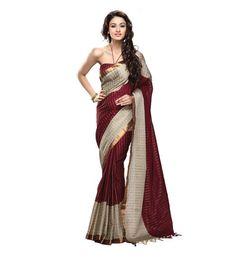 Miraan Handwooven Printed Cotton Saree for Women