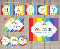 Rainbow Birthday Package / Rainbow Birthday by LittleApplesDesign, $12.00