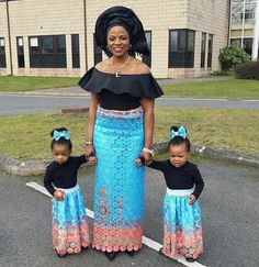 Here Are The Gorgeous Ankara Styles 2019 - isishweshwe Nigerian Men Fashion, African Fashion Dresses, African Dress, Office Outfits Women, Lace Outfit, Black Families, African Design, Ankara Styles, Mother And Child