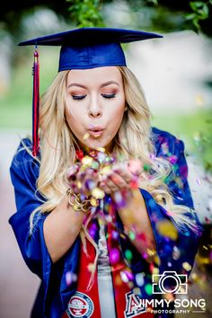 Senior Graduation Confetti Portraits Photos College University of Arizona Grad ideas