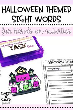 Fun Halloween themed sight word activities for kindergarten, 1st grade, or 2nd grade students! My resource includes 100 Fry Words, recording sheets, and more! This is could be used for whole group, literacy centers, or for word work.