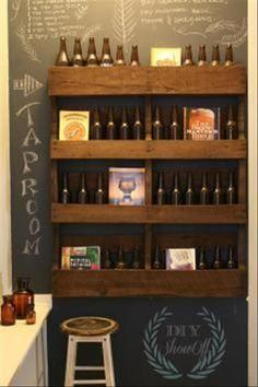 33 bottles of beer on a pallet wall 33 bottles of beer.....