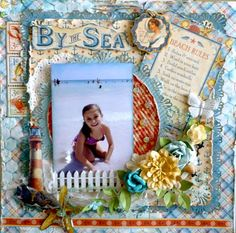 Layout: BT THE BEACH by scrapbook.com user Prentiss #graphic45