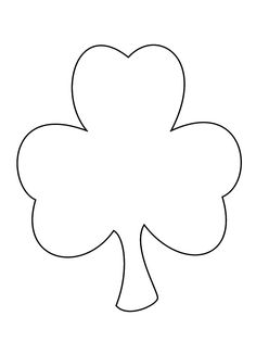 Shamrock pattern for coloring, painting, scissor cutting practice, decorating and many learning experiences.