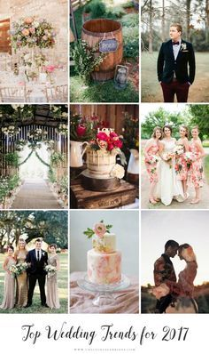 Top Wedding Trends for 2017