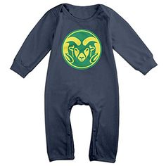 JJVAT Colorado State University Rams Long Sleeve Playsuit For 624 Months Boys  Girls Size 6 M Navy -- Read more reviews of the product by visiting the link on the image.