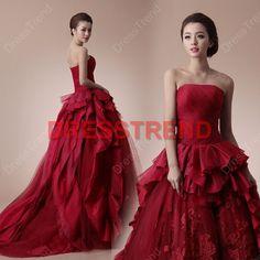 2013 Wedding Dress  Custom make Wedding Dress / Red by DressTrend, $319.00