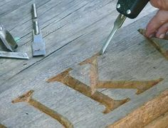 How to Carve a House Sign  Immortalize your home with a wooden plaque.
