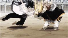 lucy, natsu, grey : saving lucy from fall pt 2