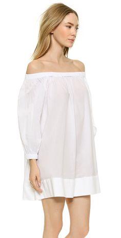 Cynthia Rowley Cotton Voile Peasant Dress | SHOPBOP
