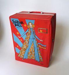Fashion Doll Case for Barbie Dolls / 1960s Mod by RavishingRuby, $18.00
