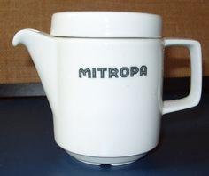 DDR-Porzellan: Mitropa-Kaffeekännchen f. 2 Tassen von Zeitzone-DDR auf DaWanda.com