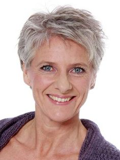 Layered Short Pixie Hairstyles for Grey Hair