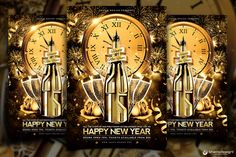 Do you want to impress your customers for the NYE ? Check out this New Year Flyer Template V2, to make your VIP Party successful! With Facebook Cover ! DOWNLOAD 2 PSD: http://thatsdesignstore.com/prod…/new-year-flyer-template-2/