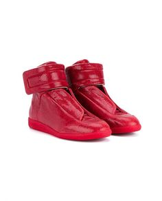 816b21ae114c4a MAISON MARGIELA Future Leather Hi-Top Trainers · Men s High Top SneakersRed  ...