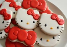 Hello Kitty Bow Cookies 9