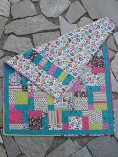 """Hoping I can get through all my other """"homemade gifts"""" this Christmas so that I can make my girls their first quilts!  Going to follow this design with some fabulous fabrics to match their nursery."""