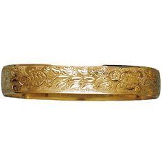 12mm BBS 14K barrel 'inana honu scroll bracelet (scroll only)