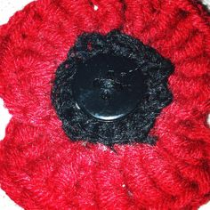 Rememberance day crocheted poppy