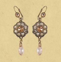 Floral La Vita Earrings from michael negrin (wedding?)