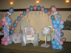 Decor Galore - Balloon Decorations for pink & blue baby shower