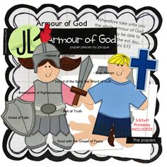 Armour of God by Jacque - What a great way to play and teach at the same time! Sunday School Themes, Sunday School Lessons, Sunday School Crafts, Bible Lessons For Kids, Bible For Kids, Belt Of Truth, Kids Church, Church Ideas, Christian Preschool